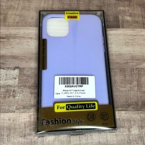 FOR IPHONE 11 - Lavender Phone Case w/Screen Prot.